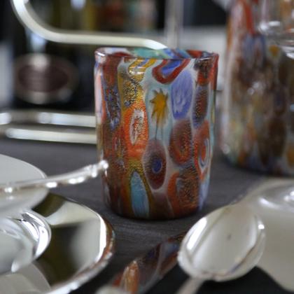 bicchiere murrine oro