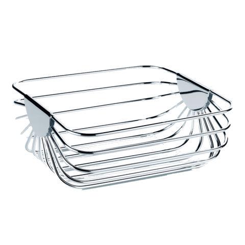 cestino porta pane in argento greggio