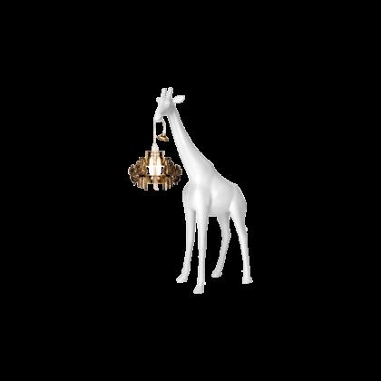 qeeboo giraffa lampadario versione piccola bianca
