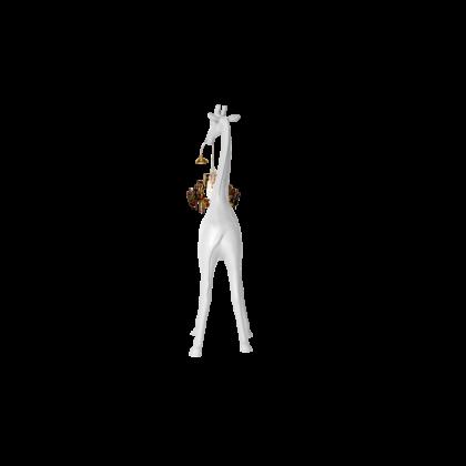qeeboo giraffa bianca con lampadario versione da tavolo
