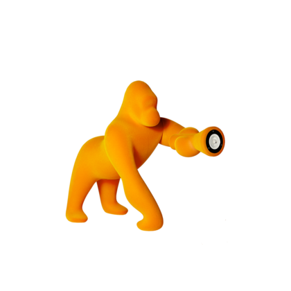 lampada gorilla velluto oro scuro qeeboo