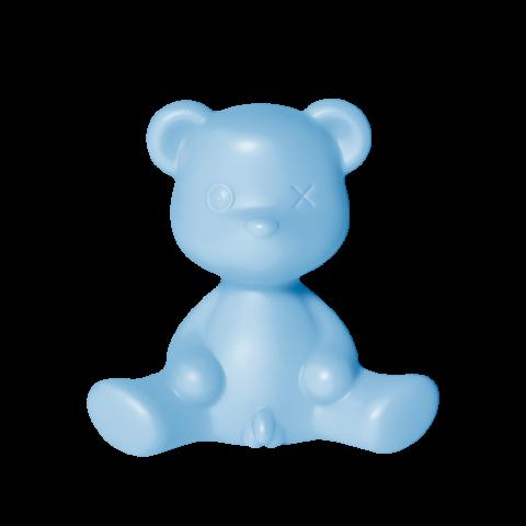qeeboo lampada a orsetto luminoso azzurro