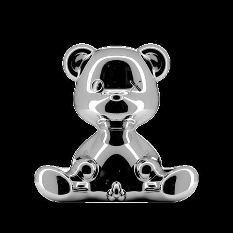 lampada orsetto argento qeeboo