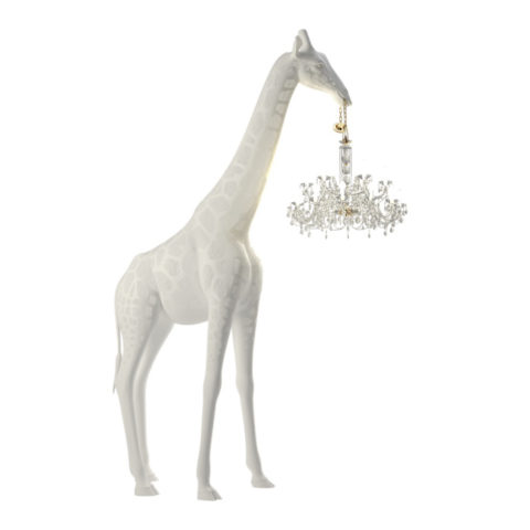 giraffa lampadario altezza 4 metri qeeboo