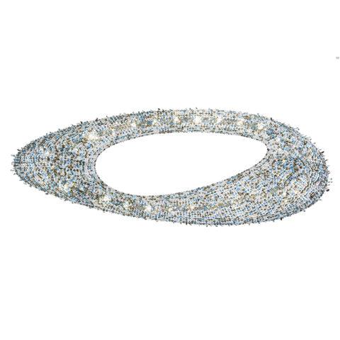 lampadario in cristallo a forma ovale manooi