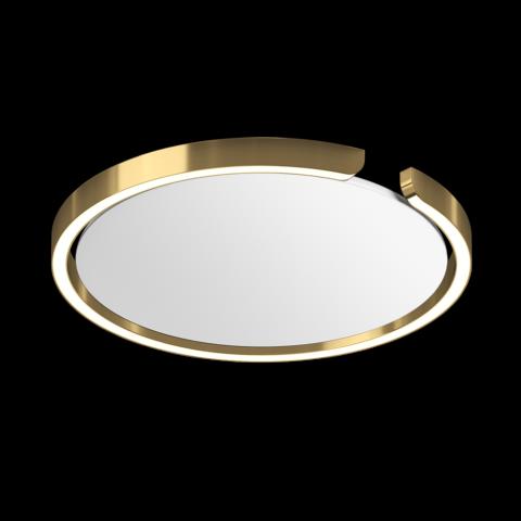 lampada da soffitto circolare colore oro di occhio