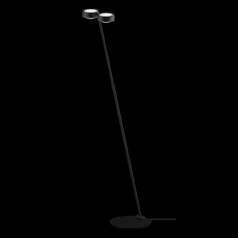lampada da terra minimal con doppia illuminazione colore nero