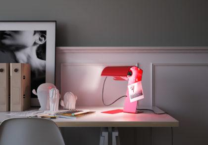 codice icona lampada da tavolo blitz colore rosso ambientazione