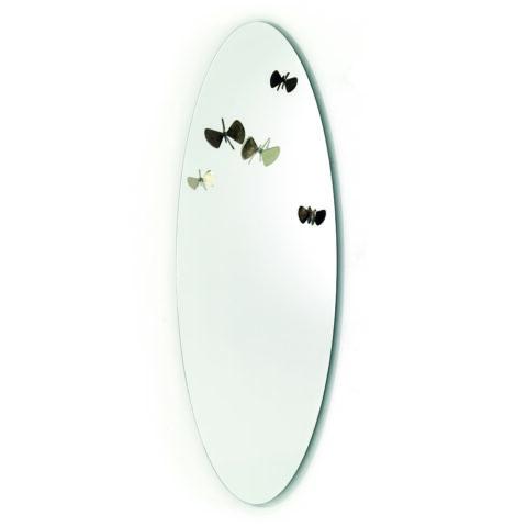 specchio appendiabiti farfalle