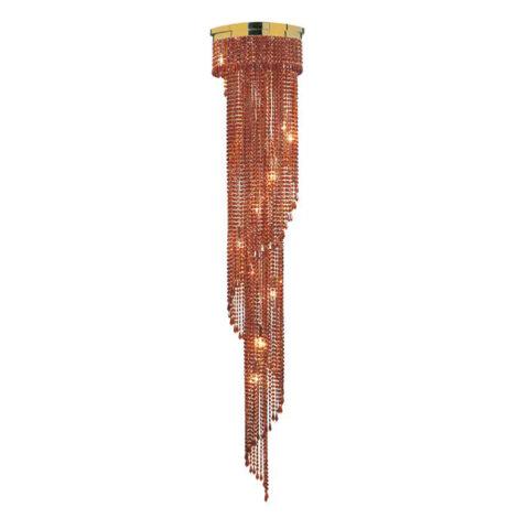 lampadario in cristallo rosso